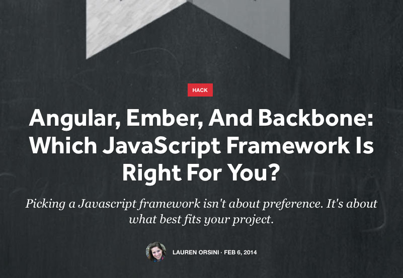 Which JavaScript framework is right for you?