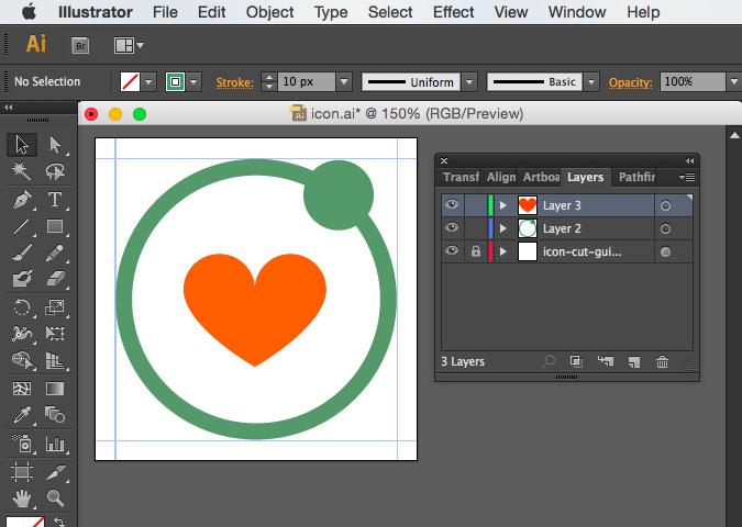 Designing the app icon on Illustrator