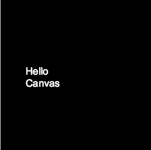 Printing text on HTML5 Canvas JS with line break or end of line with space between words