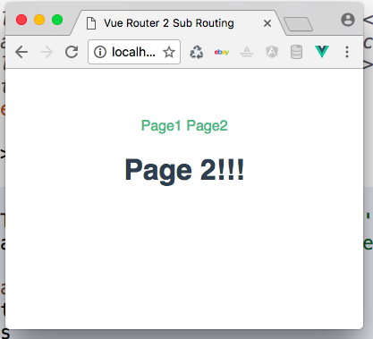 Vue-Router 2 sub routing sub paging basic setup spa