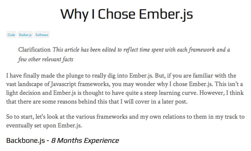 Why Ryan Tablada chose EmberJS
