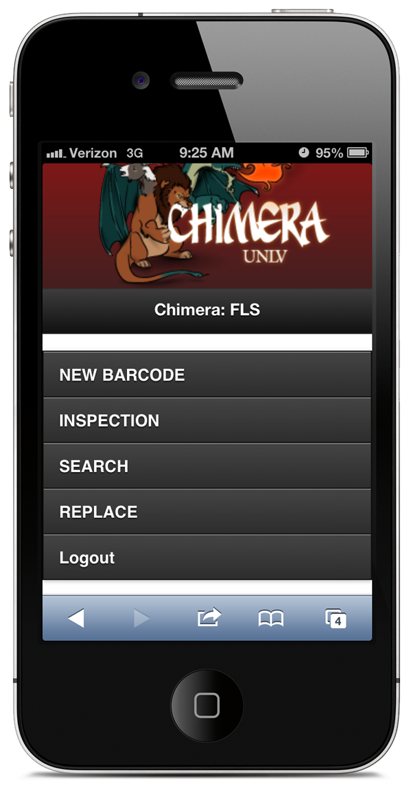 Chimera FLS mobile web app