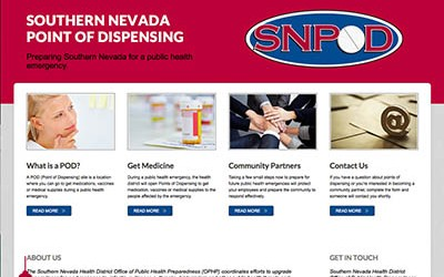 Southern Nevada POD website design and development on Joomla by June Rockwell