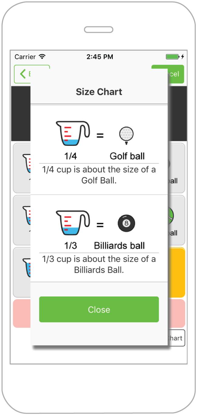 Half My Plate mobile app