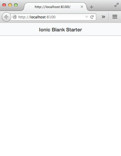 Ionic Blank Template