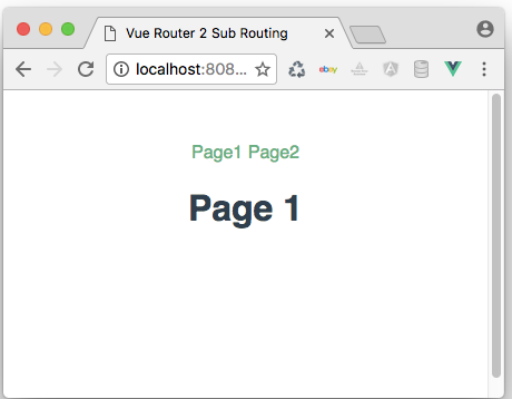 Vue-Router 2 Sub Routing