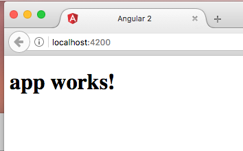 Make a simple Angular 2 SPA