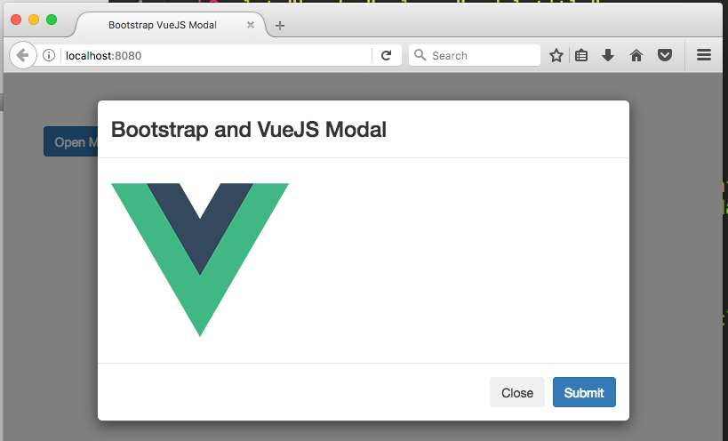 How to make a modal using Bootstrap CSS and VueJS 2
