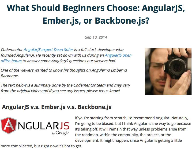 What should beginner's choose?