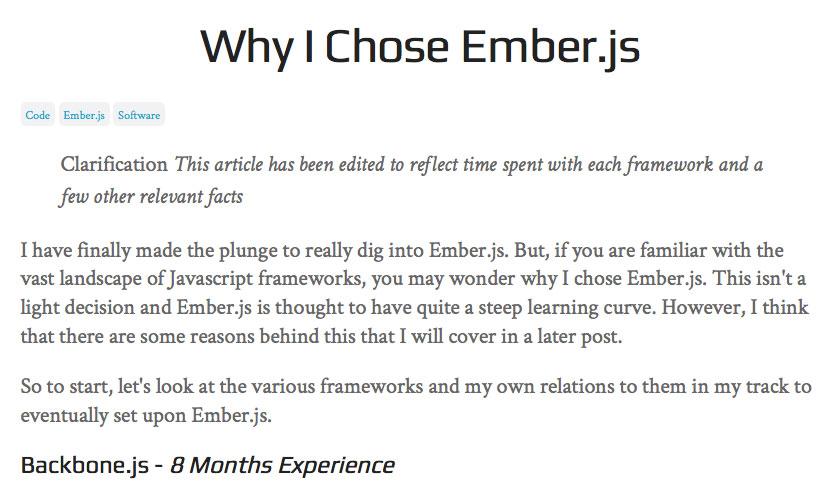 Why Ryan Tablada chose EmberJS